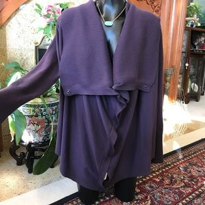 Juicy Couture Purple Cardigan Sweater